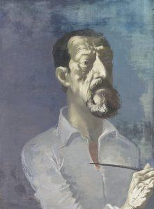 Arno Rink, Selbst, 1983, Öl auf Holz, 82,5 x 60 cm, Bildrechte: Galerie Schwind